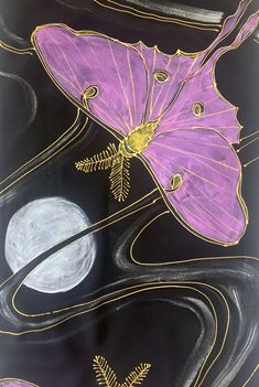 Your place to buy and sell all things handmade Moth Wings, Painted Silk, Hand Painted, Butterfly Quilt, Glitter Paint, Moon Goddess, Silk Painting, Beautiful Butterflies, Black Silk