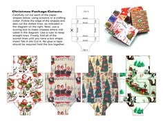 Christmas Papercraft – Miniature Gift Boxes « Toyshop Greetings – Technicolor Retro-Culture