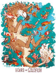 Unusual Dragon Hoards-Goldfish-by Lauren Dawson