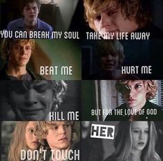 Evan and Taissa. Tate and Violet, Kyle and Zoe