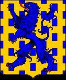 blason d'Angle.- Après la reconquête du Poitou en 1372, Guichard d'Angle retourne en Angleterre et devient le gouverneur du futur roi Richard II, fils du Prince Noir qui le fera comte de Huntingdon. Il s'éteint à Londres en 1380 et a droit à des funérailles quasiment nationales en présence de toute la famille royale d'Angleterre. Respecté et estimé de ses amis comme de ses ennemis, il rassemble en lui le meilleur de la chevalerie qui jetait à son époque ses derniers feux