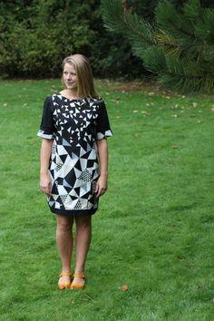 Self-drafted Echino sateen dress www.jenni-smith.co.uk