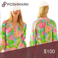 Elsa Top Multi So a Peeling Lilly Pulitzer Tops Blouses