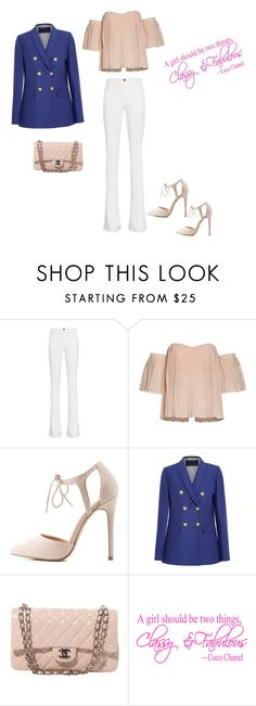 """""""Classy and fab..."""" by francy78 on Polyvore featuring moda, Frame Denim, Charlotte Russe, J.Crew e Chanel"""
