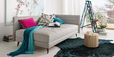 Teppiche müssen immer quadratisch sein? Da sind wir anderer Meinung. Foto: JOKA Sofas, Couch, Relax, Modern, Lounge, Design, Komfort, Furniture, Home Decor