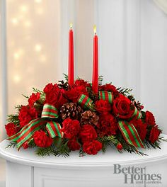 The FTD® Holiday Classics™ Centerpiece by Better Homes and Gardens®- Deluxe