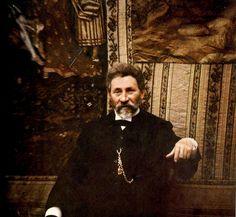 """zolotoivek: """" Color photo of Ilya Repin, taken in the artist's studio, 1910. Photo by Leonid Andreyev. """""""