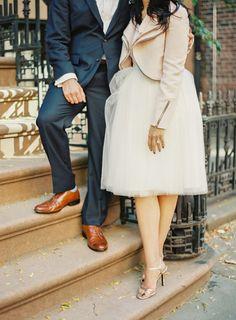 So much style: http://www.stylemepretty.com/new-york-weddings/new-york-city/manhattan/greenwich-village/2014/11/27/romantic-nyc-highline-engagement/ | Photography: Shadi Boulos - http://shadiboulosphotography.com/