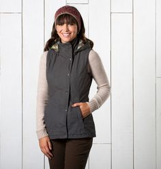 Women's Eco-Friendly Jackets and Layers Quilted Vest, Layers, Winter Jackets, Toad, Hoodies, Fall 2015, Stylish, Graphite, Cotton