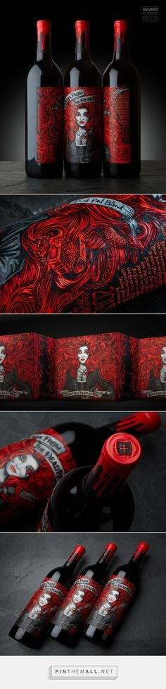 Back from the Dead Red wine packaging design by McLean Design - http://www.packagingoftheworld.com/2017/06/back-from-dead-red.html http://jrstudioweb.com/diseno-grafico/diseno-de-logotipos/