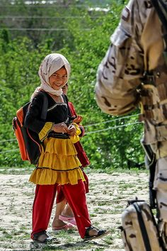 On the way to school . Afghanistan