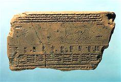Mesopotamian clay tablet with astronomical pattern, 3rdC BCE; Vorderasiatisches Museum (SMPK), Berlin