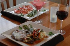 Valentines Day Specials: Bistecca Funghi- Grilled 10 oz rib eye, topped with a roasted red pepper, onions and spinach in a mushroom marsala wine sauce with a melted mozzarella cheese served over mashed potatoes and asparagus. Lobster Ravioli- Homemade heart shaped ravioli stuffed with fresh lobster meat and ricotta served in a butter sage truffle sauce served with a side of fresh asparagus.