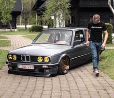 Hot Wheels - The man @kevve_be just checking his e30 has the right amount of @accuair measured low! @flgntlt #bmw #european #carporn #airsuspension #accuair #elevel #bagged #lowfastfamous
