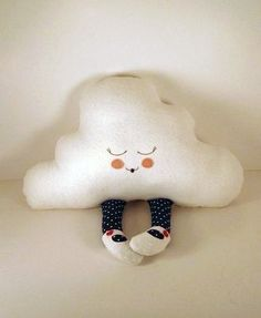 Cuddly clouds--no tutorial, but a really adorable idea...I bet I could figure it out someday...