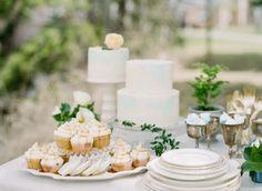 Big Love Wedding Design, Intimate Vow Renewal, mini buttercream cake, caramel cupcakes