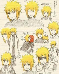 Namikaze Minato (otou-chan!!) amazing sketches