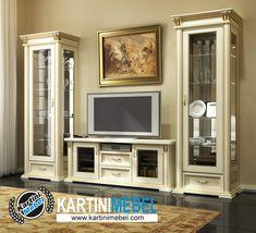 Bufet tv kaca model terbaru isruman Hall And Living Room, Living Room Decor, Tv Wall Decor, Tv Furniture, Tv Unit Design, Door Design, Living Room Designs, Family Room, Interior Decorating