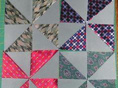 Applique Addict: Silk Tie Quilt - good instructions