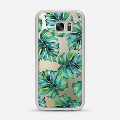 Samsung Galaxy S7 Edge Case Monstera + Pastel Pink iPhone & iPod Case