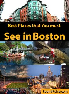 The Best Places that You must See in Boston City, MA Boston Vacation, Boston Travel, Vacation Spots, Boston Weekend, Vacation Ideas, Must See In Boston, Boston Things To Do, Boston In The Fall, Boston With Kids