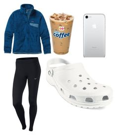 """""""Untitled #10"""" by bbp-preppy ❤ liked on Polyvore featuring NIKE, Patagonia and Crocs"""