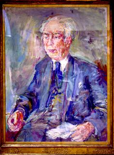 1950 Theodor Heuss by Oskar Kokoschka (Pöchlarn, Austria 1886~1980 Montreux, Switzerland)