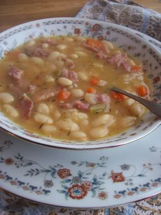 White Bean and Ham Soup  This was really good I let mine simmer for about 3 hours