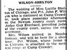 Wilson-Shelton Wedding, Camp Crowder, 7 Oct 1942