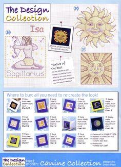 Zodiac Cross Stitch Patterns from The World of Cross Stitching vol 93 Horoscope Signs, Zodiac Signs, Stars And Moon, Cross Stitching, Cross Stitch Patterns, Astrology, Alphabet, Bullet Journal, Coding