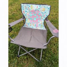 Lilly Pulitzer Inspired Monogram Lawn by LillySouthernBoutiqu
