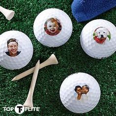Personalize golf balls with your own photo with PMall's Photo Perfect© Golf Ball Set! Great idea for golf-themed parties and as a Father's Day Gift! #golf