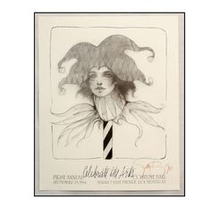 Artist Ramon Santiago Signed Poster Print - Celebrate the Arts - costume Ball 1984 in Rochester NY