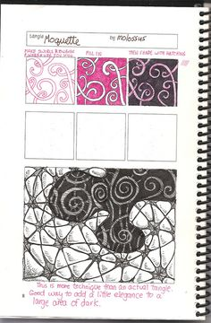 TOrg Moquette-tangle pattern by molossus, who says Life Imitates Doodles, via Flickr