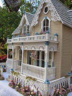 "Dollhouses by Robin Carey: ""The Darling House"" Victorian Dollhouse"