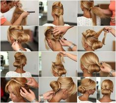 Chic and Elegant Rolled Bun Hairstyle