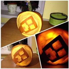 Pumpkin carving - Minecraft figure