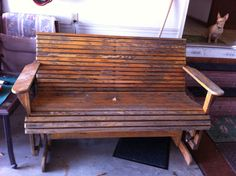 Old Glider Swing before refinishing