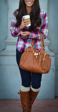 In love with plaid and flannel right now!
