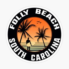 Isle Of Palms South Carolina, Folly Beach South Carolina, Star Fort, West Florida, Cool Stickers, Summer Tshirts, Magnets, Vibrant Colors, Printed