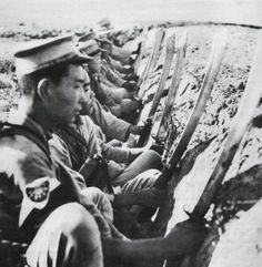 "peashooter85: ""Chinese soldiers with dao's, World War II. """
