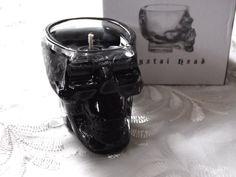 SALE Black Skull Crystal Head Vodka Shot glass Gel Candle Lavander Scent w/ Gift Box on Etsy, $7.79