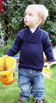 This looks so easy and so cute! Free Knitting Pattern - Baby Sweaters: Oh Handsome Baby Sweater.