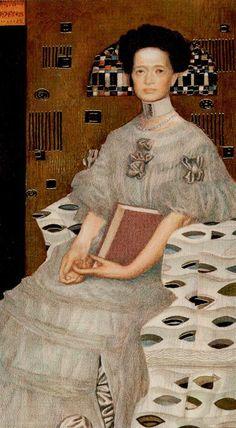 The High Priestess - Golden Tarot of Klimt //////$$$$$$/////....http://www.pinterest.com/vintagebelle76/fortune-telling/