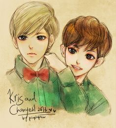 Kris and Chanyeollllll