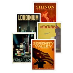 Almost positive that I'm going to buy these Art Deco Firefly posters.