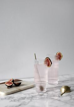 Five ideas for easy summer drinks - pink fig gin & tonic | These Four Walls blog