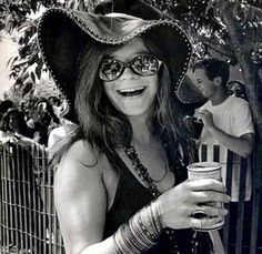 Janis Joplin with a can of Pabst Blue Ribbon, late-1960s