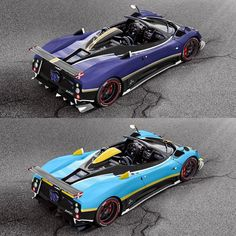 """Top or bottom? How would you spec your Pagani Zonda 760 """"BK"""" Roadster? Hit the link in the bio for a full spec rendering album! #ItsWhiteNoise #RenderMeThis #Zonda760 : @ns2_media"""