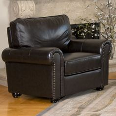 Found it at Joss & Main - Loretta Leather Arm Chair